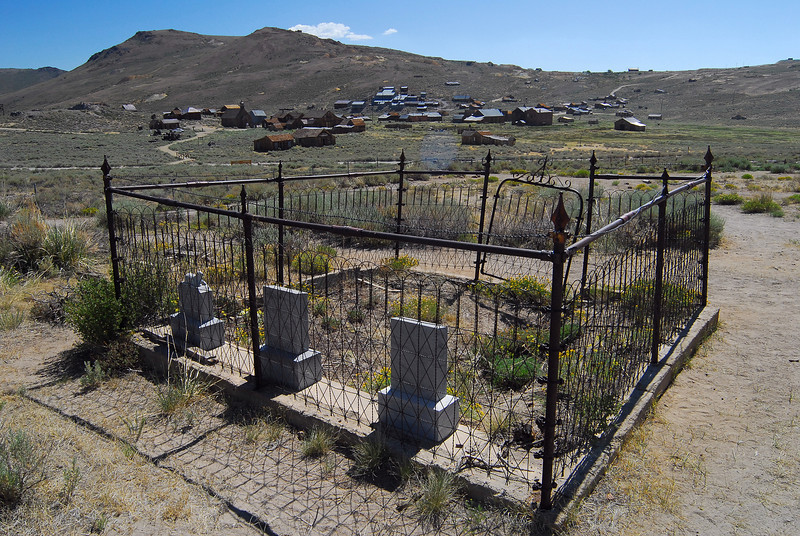 The old Bodie cemetery.