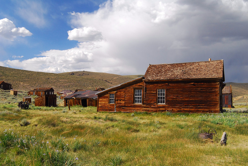 Bodie homestead on a beautiful summer day.