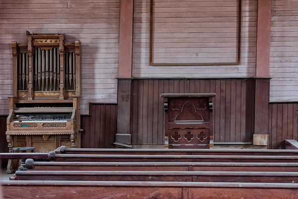 Interior of Methodist Church, Bodie.