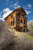 Animas Forks Ghost Town, Colorado. This house was the home of Evelyn Walsh McLean, daughter of Tom Walsh, who discovered the Camp Bird Mine in Ouray, Colorado.