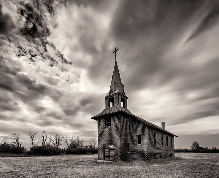 Abandoned Church, North Grand, North Dakota