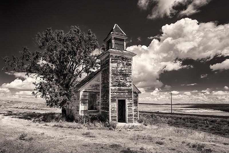 Abandoned Church near Rhame, North Dakota
