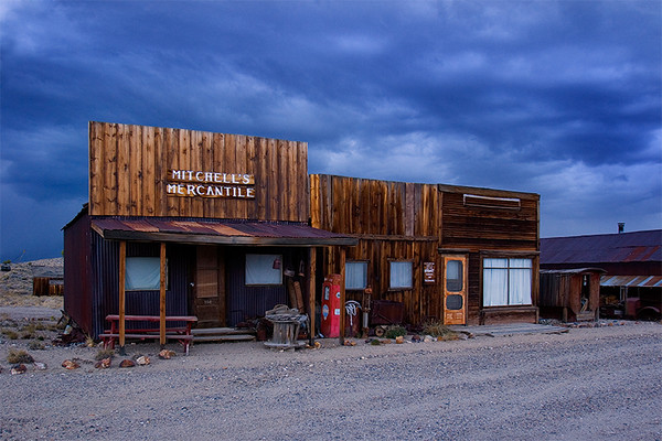 Martin Mitchell was one of the first people to open a store in Hornsilver, the name of this town before it became Gold Point. Gold Point is a ghost town, but it has never been entirely deserted. Even today, there are 28 people living here.