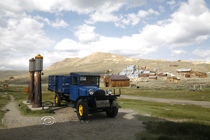 1927 Dodge Graham sitting in the gas station in Bodie