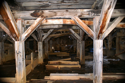 The Frisco Mill was originally located in Durango.  The lumber was numbered and shipped to Animas Forks were it was reconstructed to serve the mines in the area.