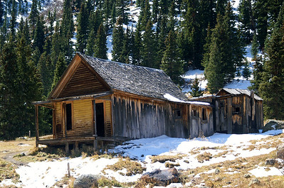 Miner's home in Animas Forks, CO.  It included indoor plumbing which consisted of a hallway leaving the house to the outhouse.