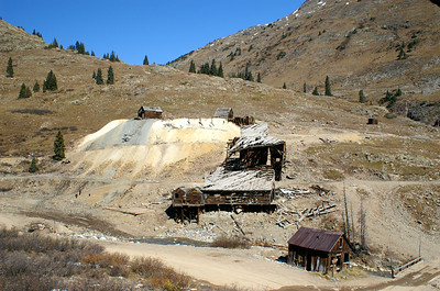 Another view of the Columbus Mine in Animas Forks.