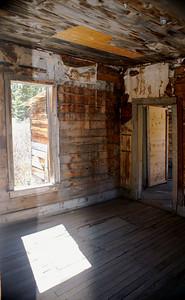 Interior shot Animas Forks, Colorado.