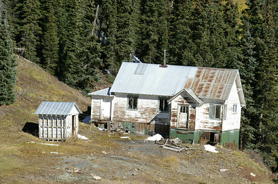 One of several miner houses still standing in the Guston, Colorado area.