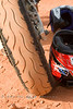Red Dirt of Sedona on the tires of our motorcycle - Photo by Pat Bonish