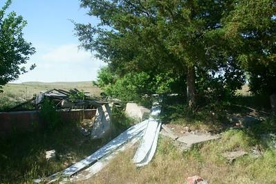 Remnants of schoolhouse