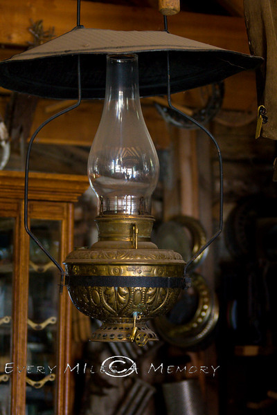Antique Kerosene Lantern hanging in Nevada City Montana - Photo by Cindy Bonish