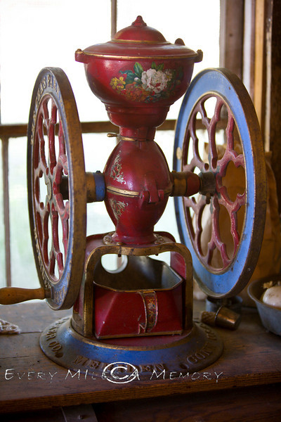 Coffee Grinder in Nevada City Ghost Town - Photo by Pat Bonish