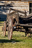 Broke Down Carriage Sitting outside the Carriage Shop in Nevada City Montana - Photo by Cindy Bonish