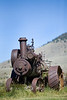Steam Tractor left in Nevada City Ghost Town - Photo by Pat Bonish