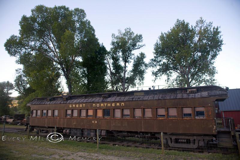 Great Northern Railcar in Nevada City Montana - Photo by Pat Bonish