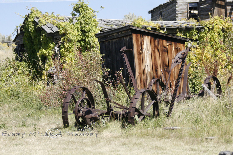 Farm Equipment sitting out in Nevada City Montana - Photo by Cindy Bonish