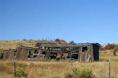 Railroad cars located in Colfax, New Mexico.