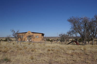 Former schoolhouse in Ancho.  Now being used as a church.