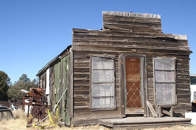 This building served as a store, post office, and assay office in Jicarilla, NM.  Jicarilla was a mining camp forming in the late 1800's.
