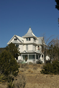 The Gumm House.  The Gumm Brothers owned a lumber mill in White Oaks.  Sheriff Pat Garrett bought lumer from the Gumm's to build a scaffold for Billy the Kid's execution.