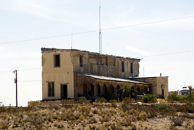 Howard Perry mansion.  Perry was was the owner of the Chisos Mountain Mining Company in Terlingua, TX.