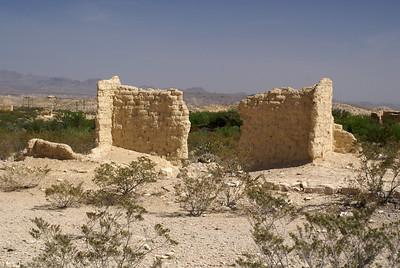 Adobe ruins in Terlingua, TX.