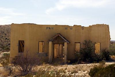 Formr school in Terlingua, TX.