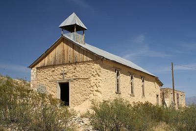 Adobe church in Terlingua, TX.