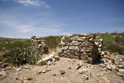 Remains of house in Big Bend State Park.