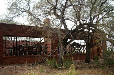 Remains of schoolhouse in Medicine Mound, TX.