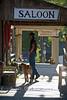 Cowboy Heading into the Saloon in Virginia City Montana - Photo by Pat Bonish