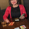 Tracy Karem reading Tarot Cards.