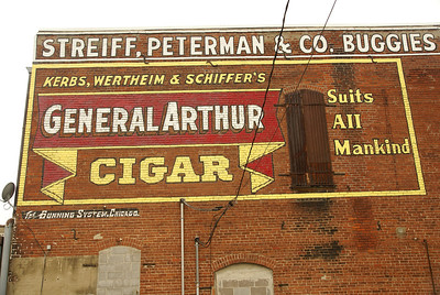 Restored ghostsign in Plattsburg, MO.