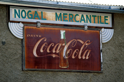 Coca-Cola sign found in Nogal, NM.