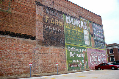 Great collection of ghost signs in Fort Dodge, IA