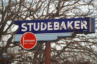 Studebaker sign east of Weatherford, TX.
