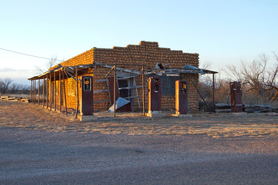 W.W. Cole building, Medicine Mound, Texas (Dec 2014)