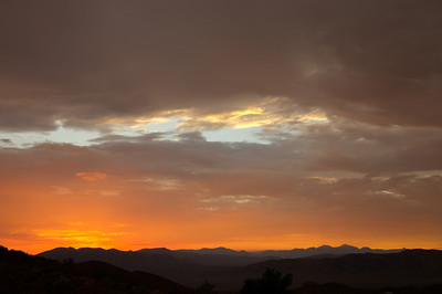 Sunset over the El Paso mountains viewed from Randsburg