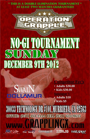Dec 9, 2012 Temecula CA Operation Grapple NOGI