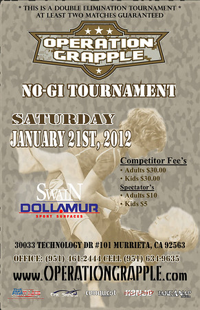 Jan 21, 2012 Murrieta, CA Operation Grapple