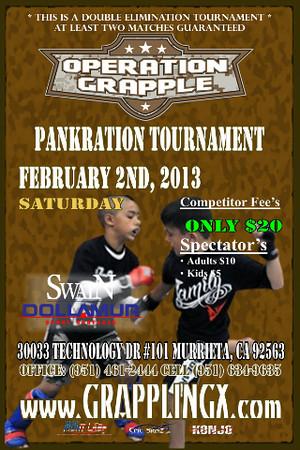 Operation Grapple Feb 2, 2013 Murrieta, CA Pankration