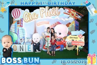 """Gia Phát 1st Birthday """"Baby Boss"""" theme Photo Booth - Chụp hình in ảnh lấy liền Tiệc Thôi nôi"""
