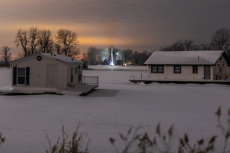 Perry Monument Light House Winter