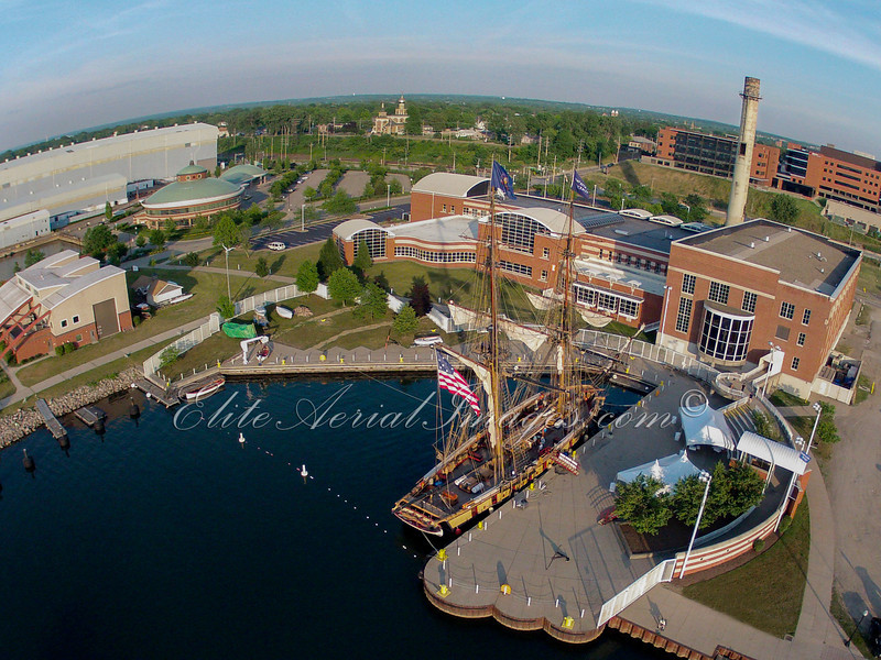 #2 Flagship Niagara in dock at the Erie Maritime Museum Wide View