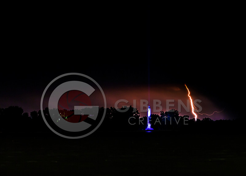 Perry Monument Lightning
