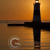 North Pier Lighthouse Sunrise Portrait