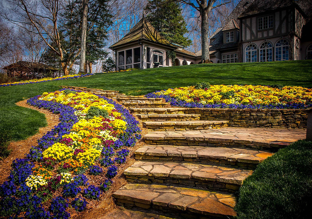 "<center><h2>' Spring at the Manor House '</h2>  Gibb's Garden Ballground, GA  Matted 16""x20"", on Luster Photo paper (12 mil)   </center>"