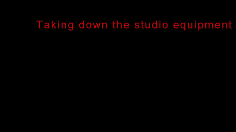 Taking down studio equipemnt 3