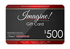 Imagine! Gift Card 500 example
